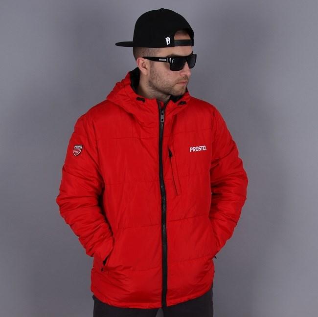czerwona kurtka zimowa PRosto